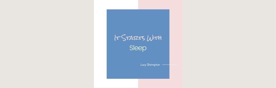it starts with sleep logo